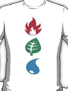 Fire, Grass, & Water T-Shirt