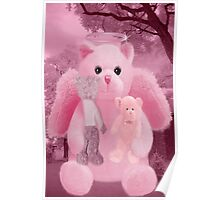 ❀◕‿◕❀HUGS,A KISS AND AFFECTION FROM A BEARY SPECIAL ANGEL CARD/PICTURE❀◕‿◕❀ Poster