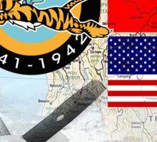 burma flying tigers Sticker