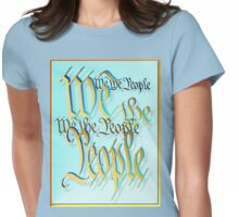 Gold and Blue-We The People Womens Fitted T-Shirt