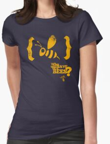 Who will save our bees? Womens Fitted T-Shirt
