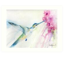Blue hummingbird Art Print