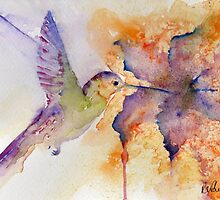 Purple Hummingbird by Ruth Nolan