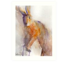 Orange Hare Art Print