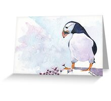 Pink Puffin Greeting Card