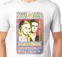 Tammy Wynette and George Jones. Concert Poster. Knoxville. Nashville. TN. Unisex T-Shirt