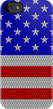 Metal Effect Stars and Stripes iPhone / iPod Case by Steve Crompton