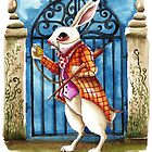 The White Rabbit - Late again by StressieCat