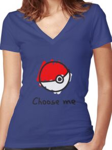 Choose me Women's Fitted V-Neck T-Shirt