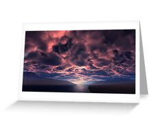 Crimson Dawn Greeting Card