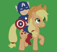 Captain America and Applejack by beckadoodles