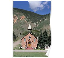 Catholic Church in Silverton, Colorado Poster
