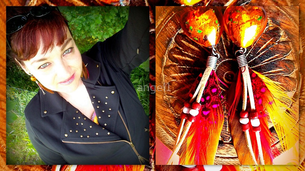 Feathered earrings by ©The Creative  Minds