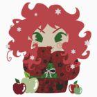 Apple Kokeshi Doll by SaradaBoru