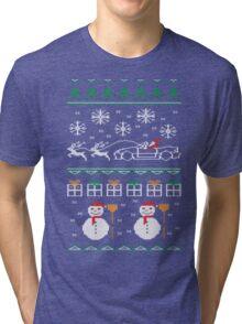 Ugly XMas Sweater - Mazda Miata Tri-blend T-Shirt