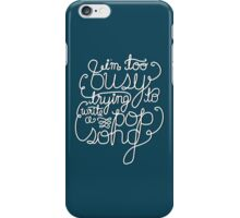 Pop Song (White) iPhone Case/Skin