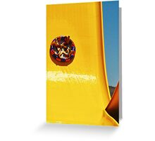 WATER PARK SLIDE (CARD ONLY) Greeting Card