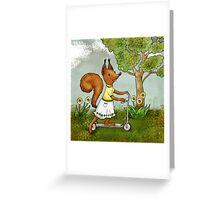 Veve is keen on sports Greeting Card