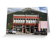Old Teller House Hotel in Silverton Colorado Greeting Card
