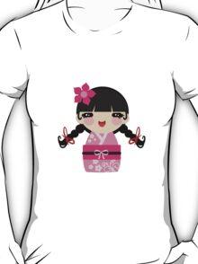 Pink Kokeshi T-Shirt