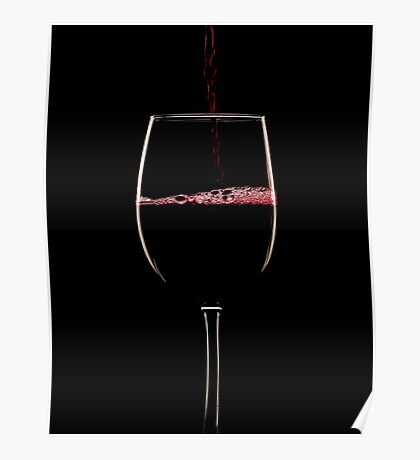 Red wine on black Poster