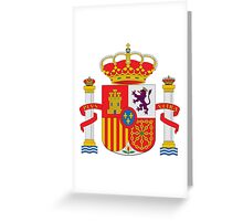 Coat of Arms of Spain  Greeting Card