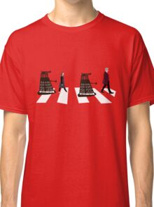 Doctor Who 12th Doctor, Clara and Daleks on Abbey Road Classic T-Shirt
