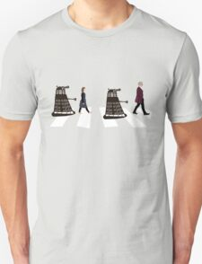 Doctor Who 12th Doctor, Clara and Daleks on Abbey Road T-Shirt