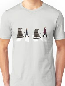 Doctor Who 12th Doctor, Clara and Daleks on Abbey Road Unisex T-Shirt