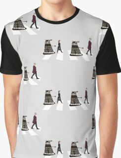 Doctor Who 12th Doctor, Clara and Daleks on Abbey Road Graphic T-Shirt