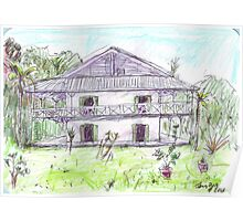 Doctor's House, Old Leprosy Colony, Curieuse Island Poster