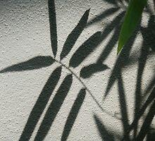 leaf on wall by demor44