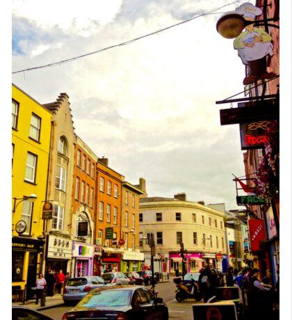 Cork City Street Scene 001  Sticker