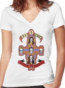 Appetite for Misbehavin' Women's Fitted V-Neck T-Shirt