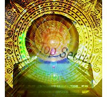 mayan time travel machine Photographic Print
