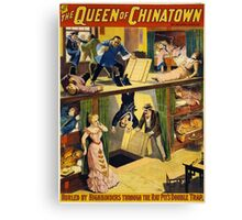 Vintage poster - The Queen of Chinatown Canvas Print