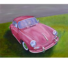 Red Porsche 356 Photographic Print