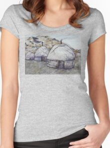 Sunrise at the Ger Camp Women's Fitted Scoop T-Shirt