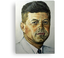 JFK - Tribute To Rockwell Canvas Print