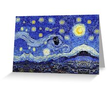 Starry Night Inspiration Dr Who Tardis Greeting Card