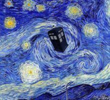 Starry Night Inspiration Dr Who Tardis Sticker
