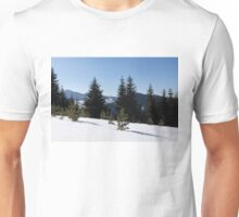 Snowy Forest in the Sunshine Unisex T-Shirt