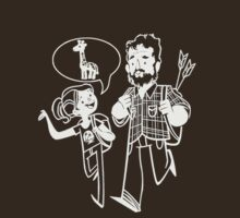 Joel and Ellie as worn by Neil Druckmann by BennH