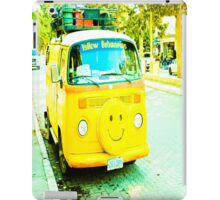 Happy, yellow car. iPad Case/Skin