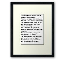 The Quotes Shirt Framed Print