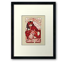 Sorcière Rouge Framed Print