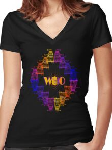Color Me Who Women's Fitted V-Neck T-Shirt