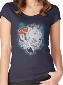 The princess and the wolf Women's Fitted Scoop T-Shirt