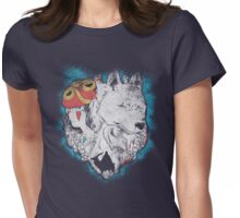 The princess and the wolf Womens Fitted T-Shirt