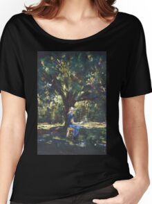 Anne painting under the trees Women's Relaxed Fit T-Shirt